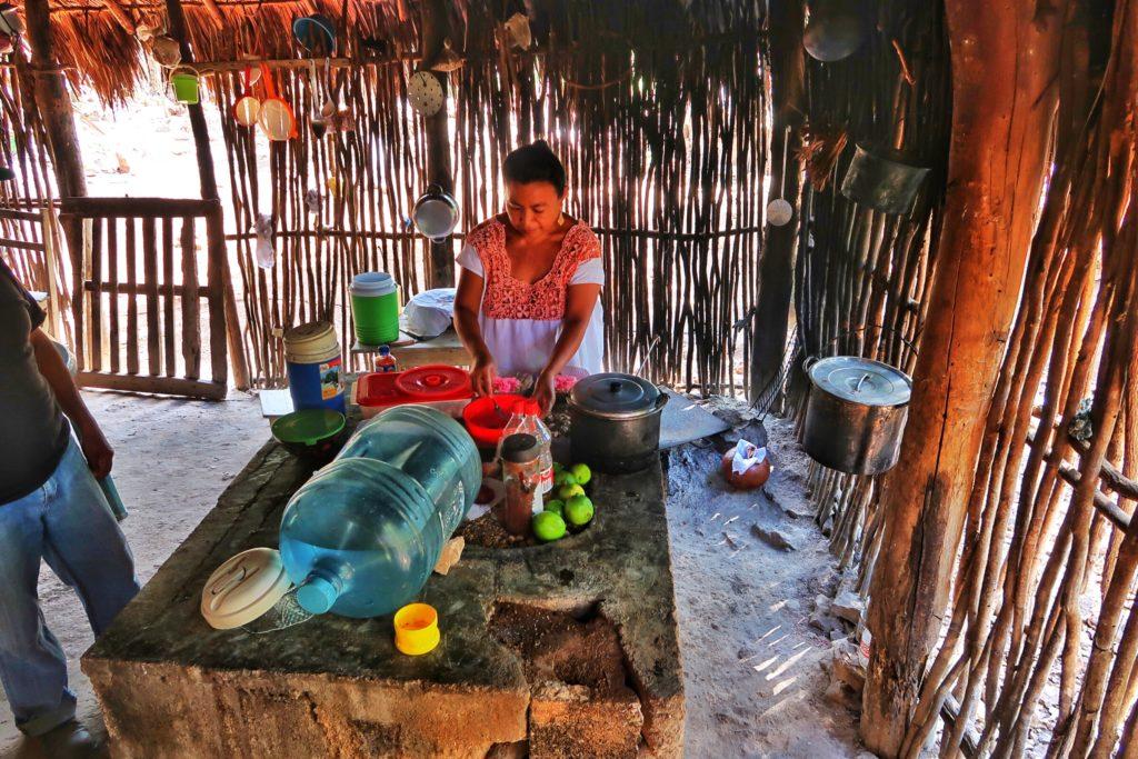 Mayan woman cooking