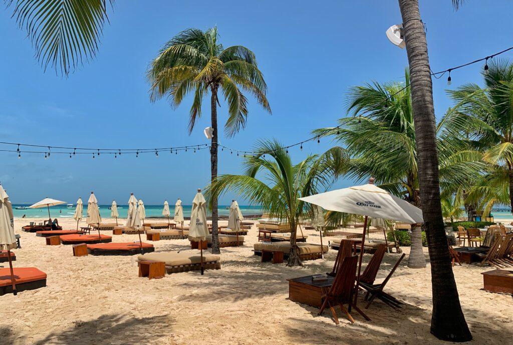 Beach club on Isla Mujeres
