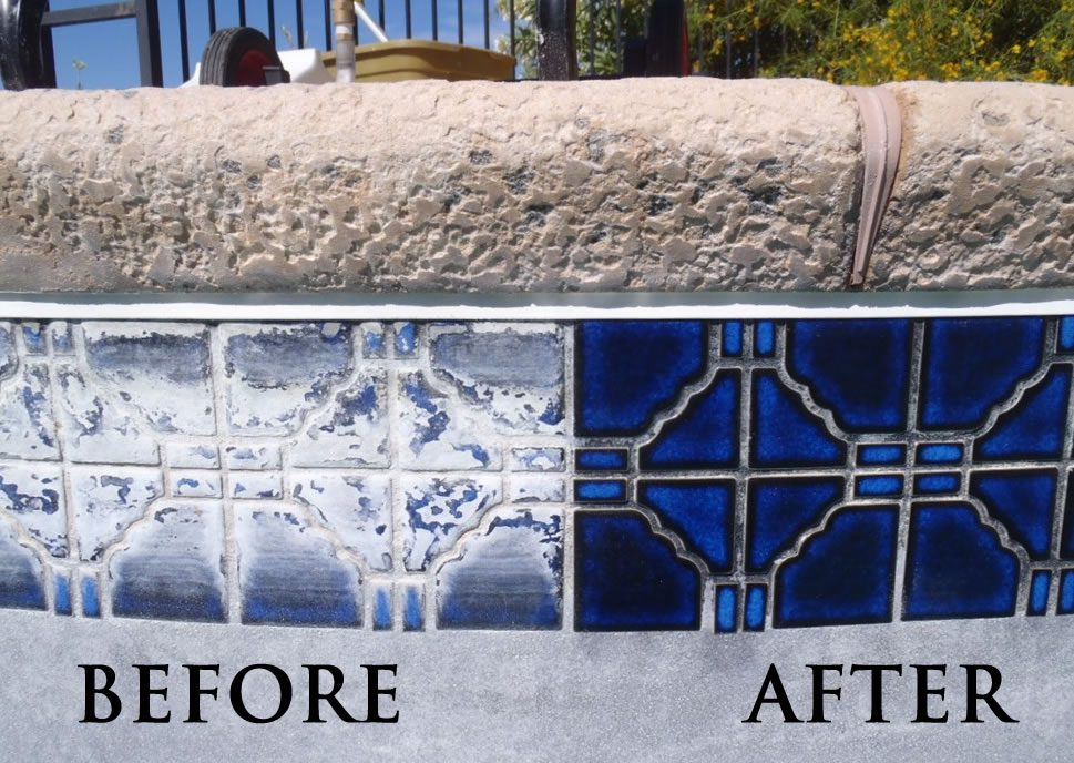 before and after tile pool restore