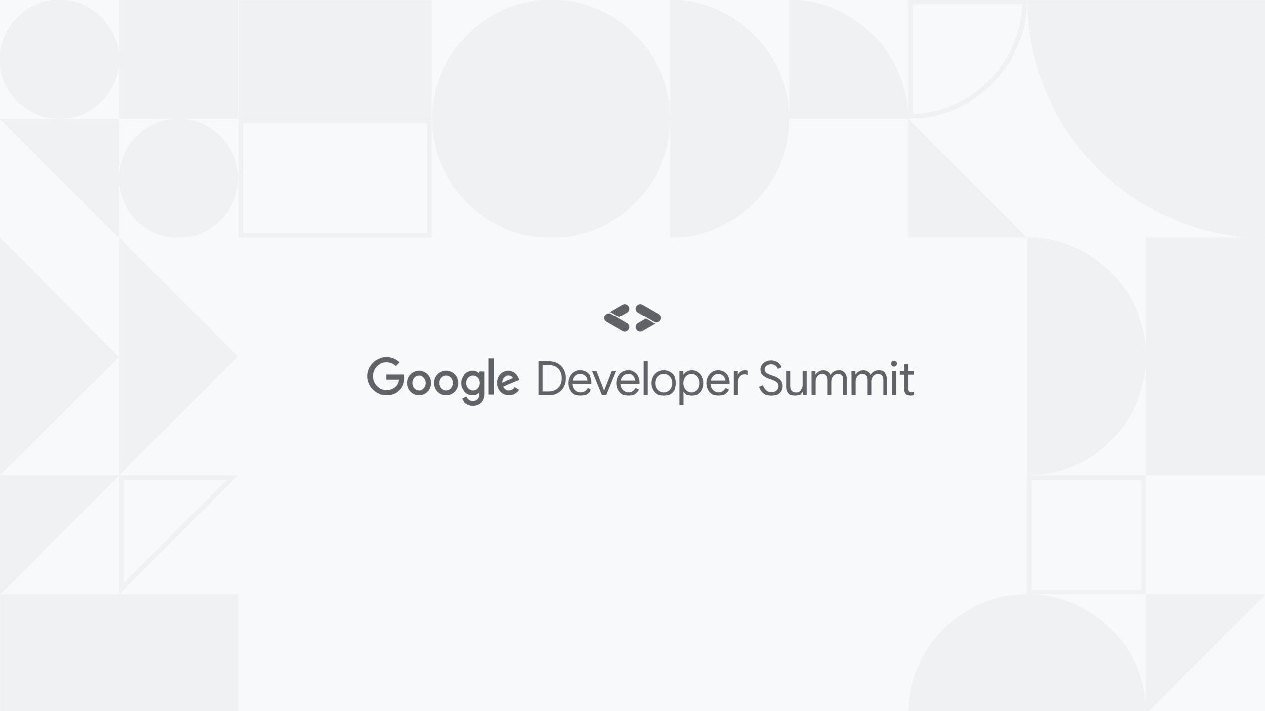 Google Developer Summit