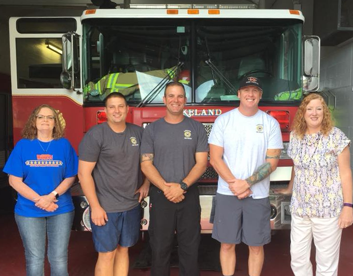 GFWC Junior Woman's Club of Lakeland with Lakeland Firefighters