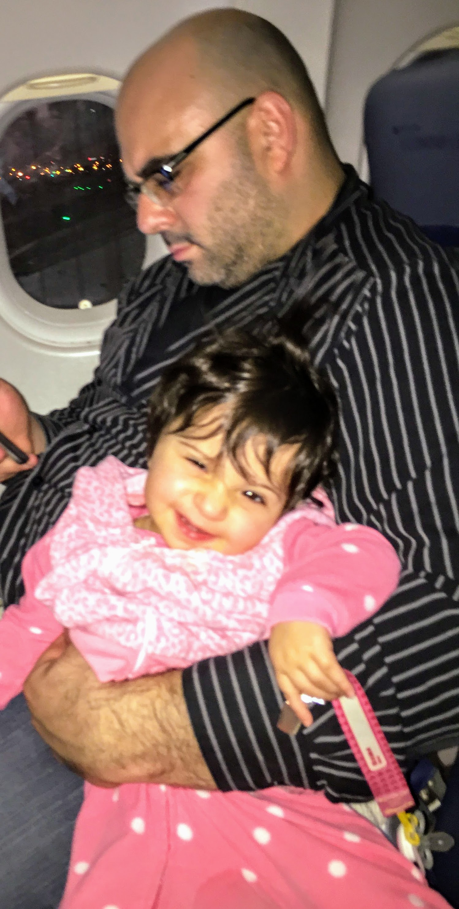 Our first (and most memorable) flight with the kids