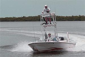Palm Island englewood boat navigating the flats