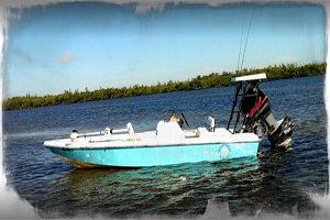 Punta Gorda Florida fishing guide boat in Charlotte Harbor