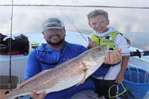 Tampa and Sarasota Bay redfish with family