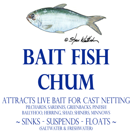 Chum for bait fish cast net fishing
