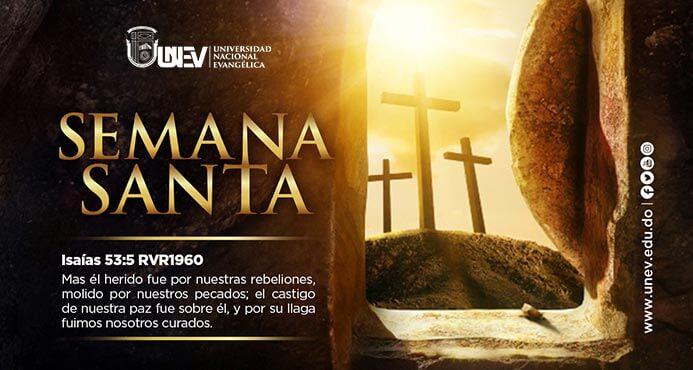 semana santa banner con tres cruces