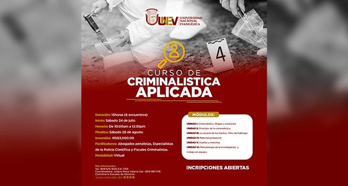 Curso Criminalística Aplicada evento web
