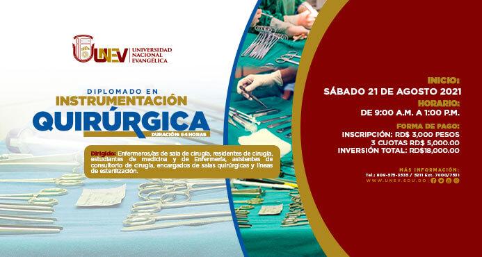 DIPLOMADO EN INSTRUMENTACIÓN QUIRÚRGICA evento web