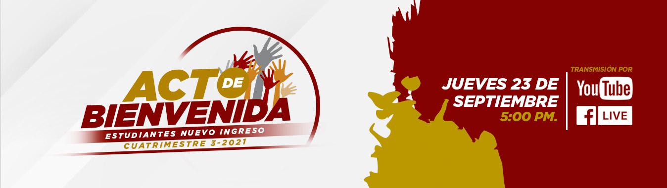 acto de bienvenida 3-21 portada web