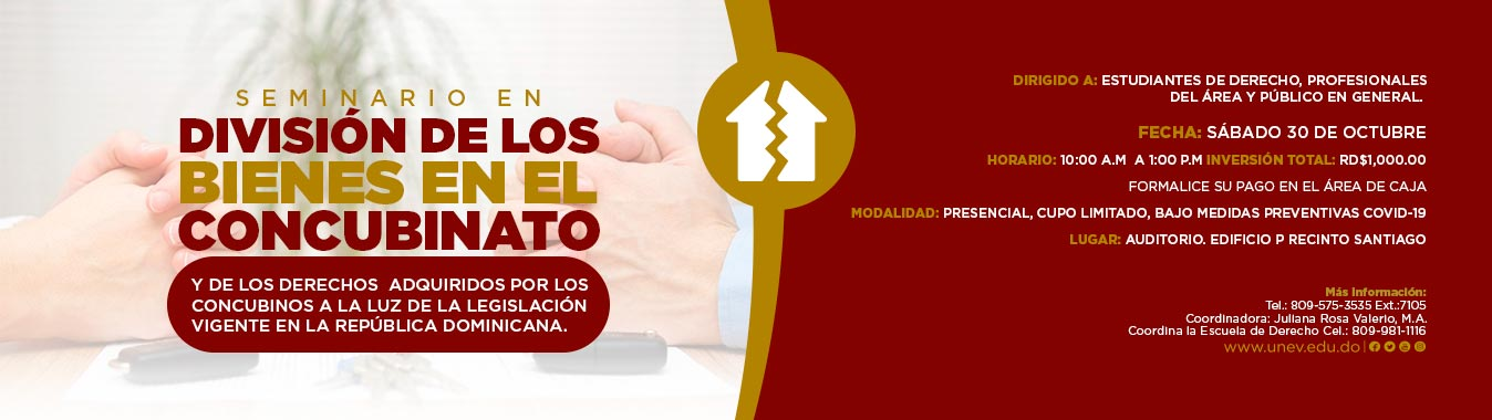 Seminario en División de los bienes en el concubinato y de los derechos adquiridos por los concubinos a la luz de la legislación vigente en la República Dominicana