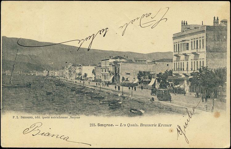 """Καφενείο """"Brasserie-Pilsen"""" το 1906"""