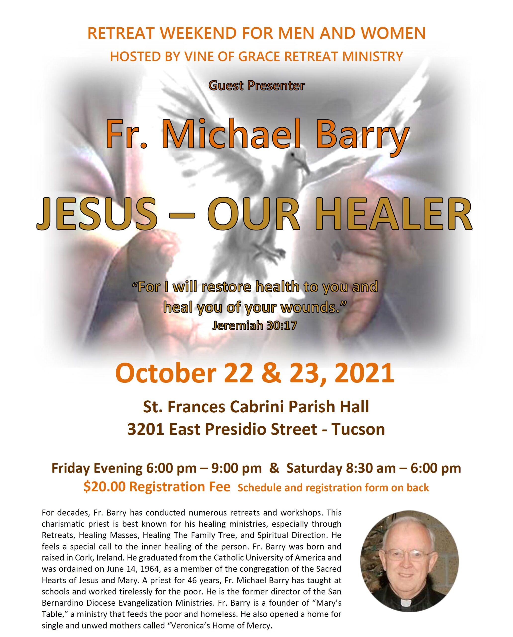 Jesus Our Healer retreat 2021-10-22