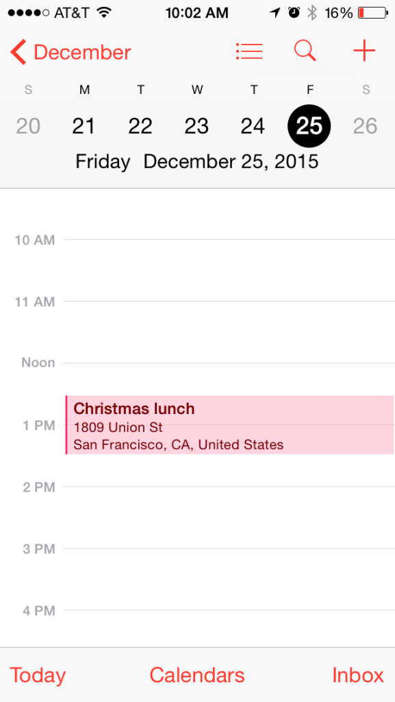 Every invites' calendar is automatically updated