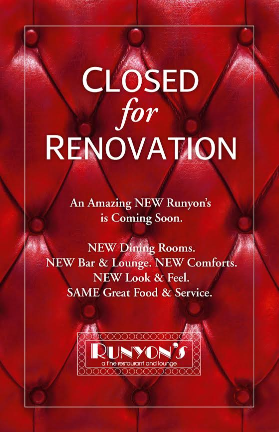 closed for renovation sign