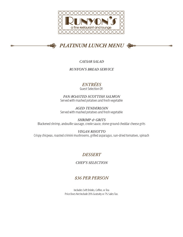 catering lunch menu