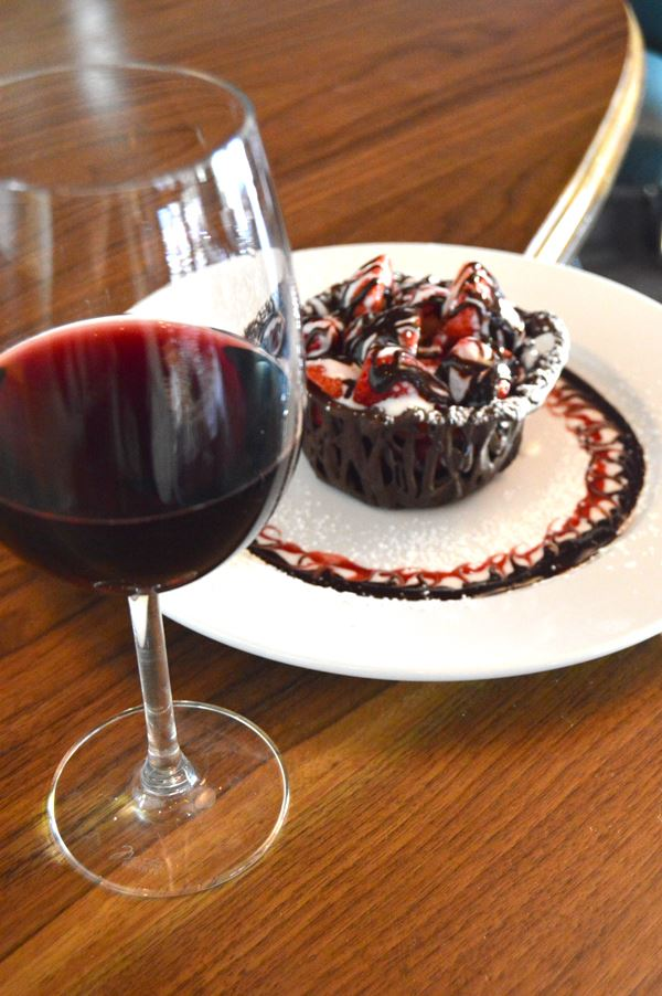 Chocolate Dessert with Wine