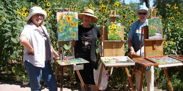 CALL TO ARTISTS: Van Gogh Sunflower Paintout and Auction