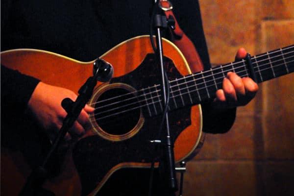 Ted Ramirez playing guitar