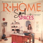 Cover of R-Home Magazine with woman sitting on desk in home office