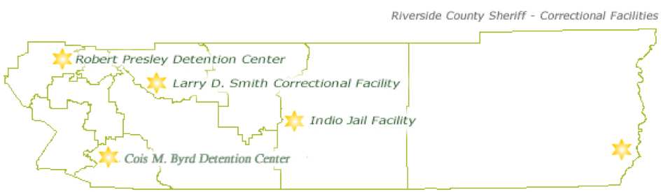 riverside county jail map