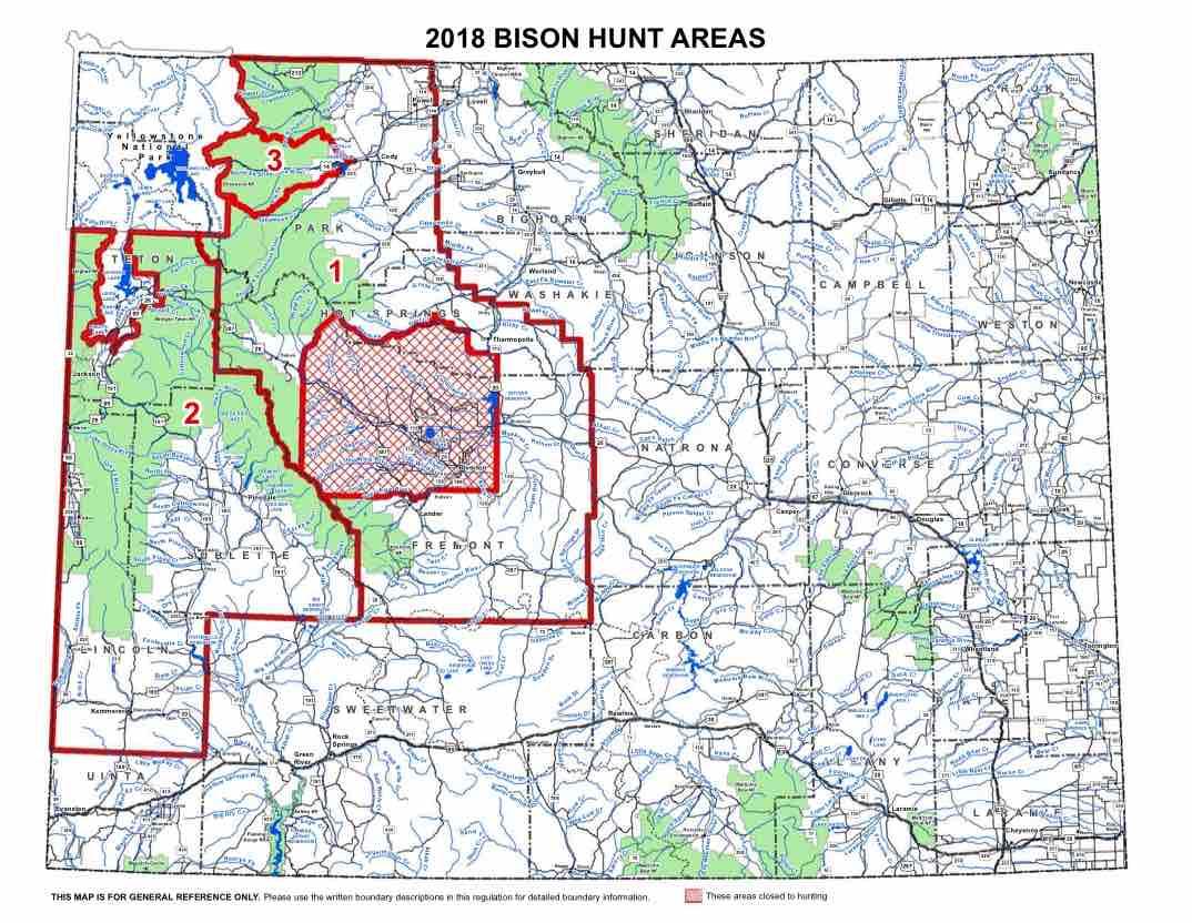 Bison Hunt Area Map