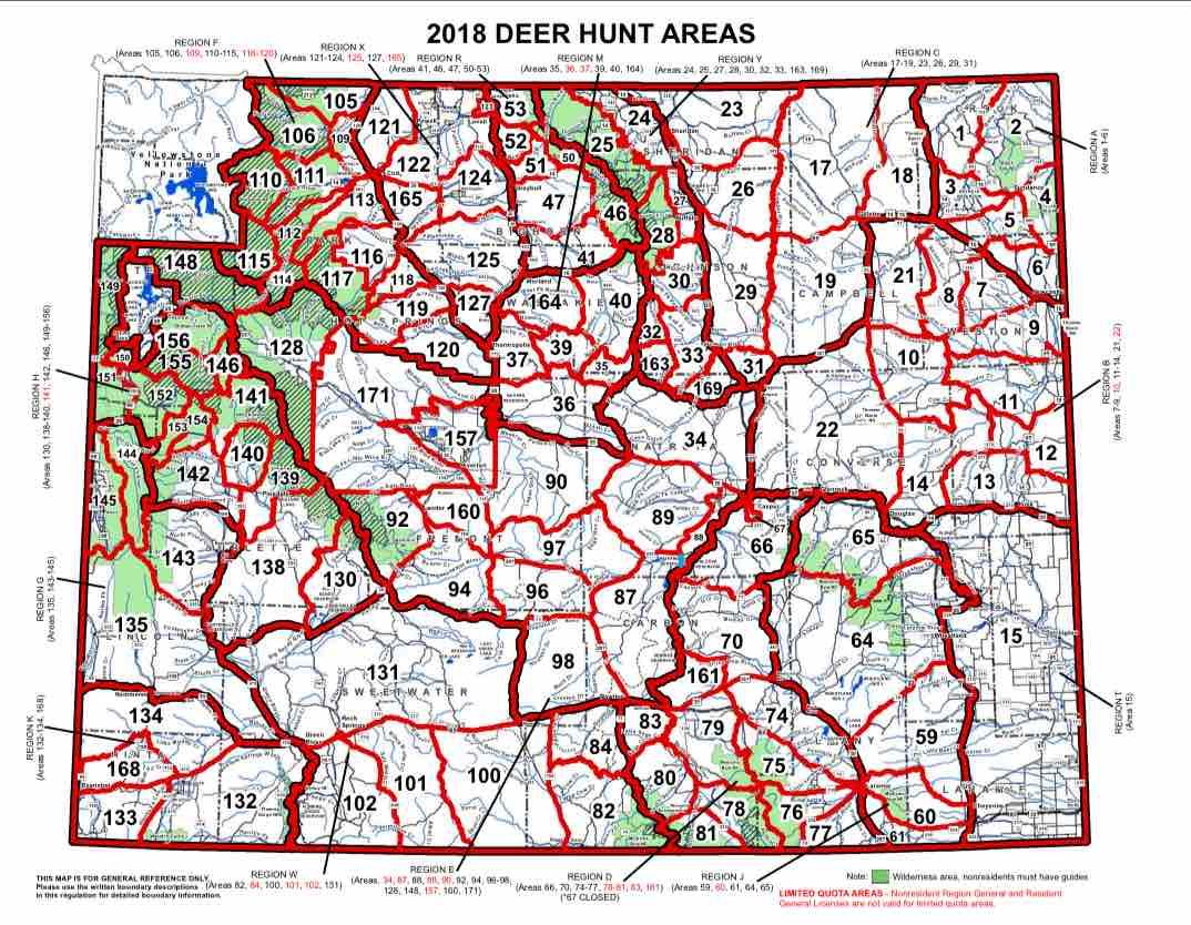 Deer Hunt Area Map