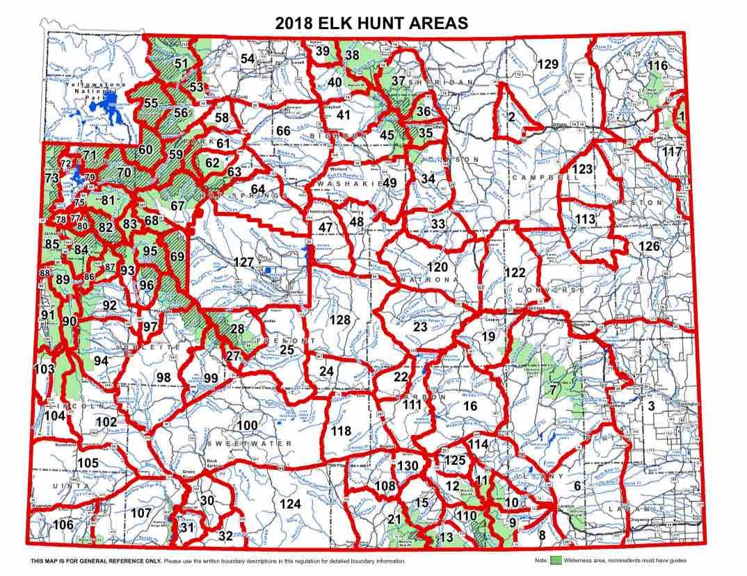 Elk Hunt Area Map