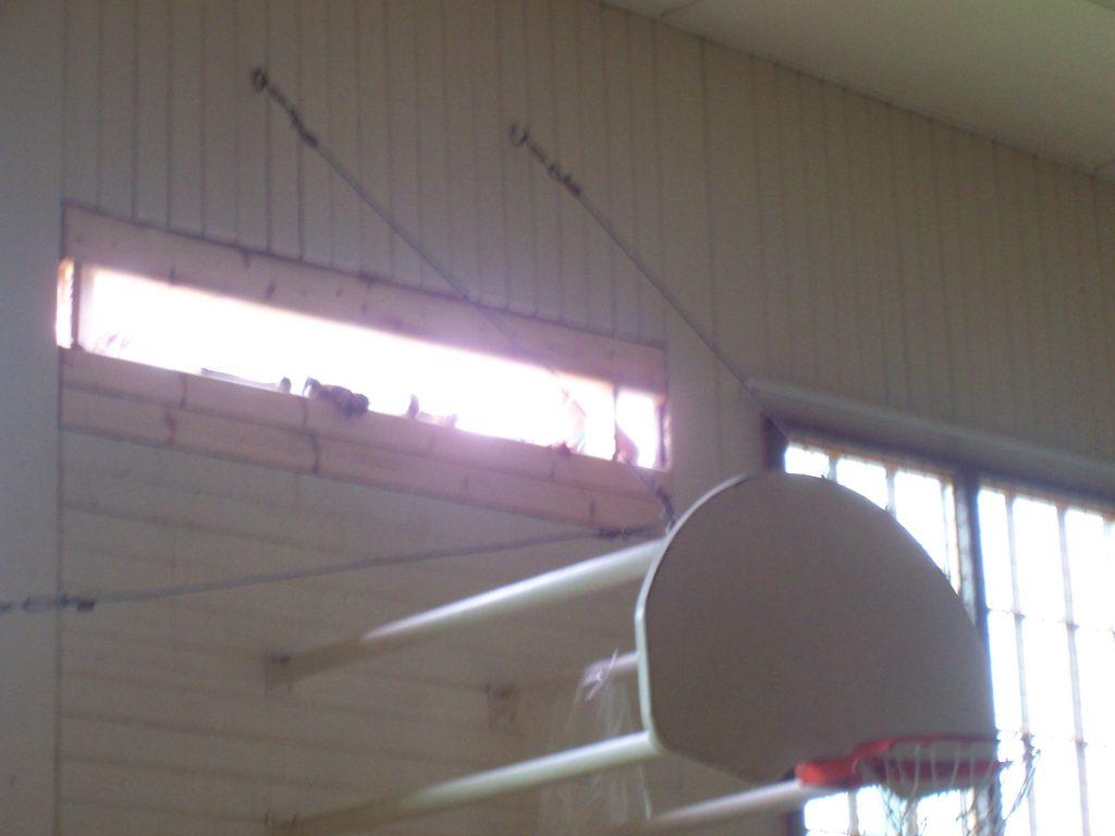 Herbster Log Gym repairs by Oulu Log Builders in 2016