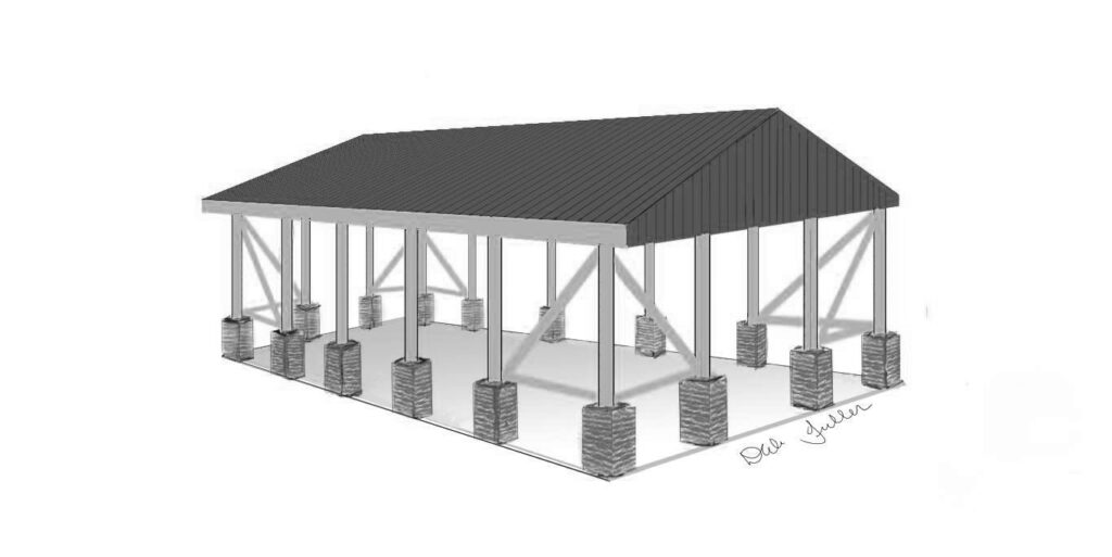 planned renovation of park pavilion by Herbster Community Club