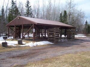 Herbster Community Club Restores Town Park Pavilion