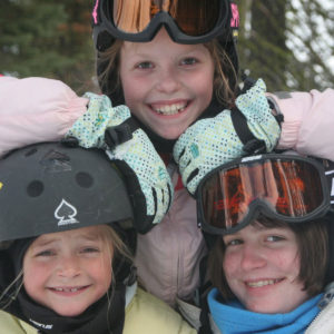 Making friends while skiing with Blue Angel Snow Ski Camp