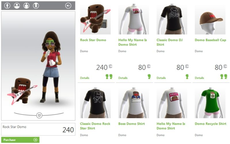 Domo Threads and Props on PS Home and Xbox LIVE