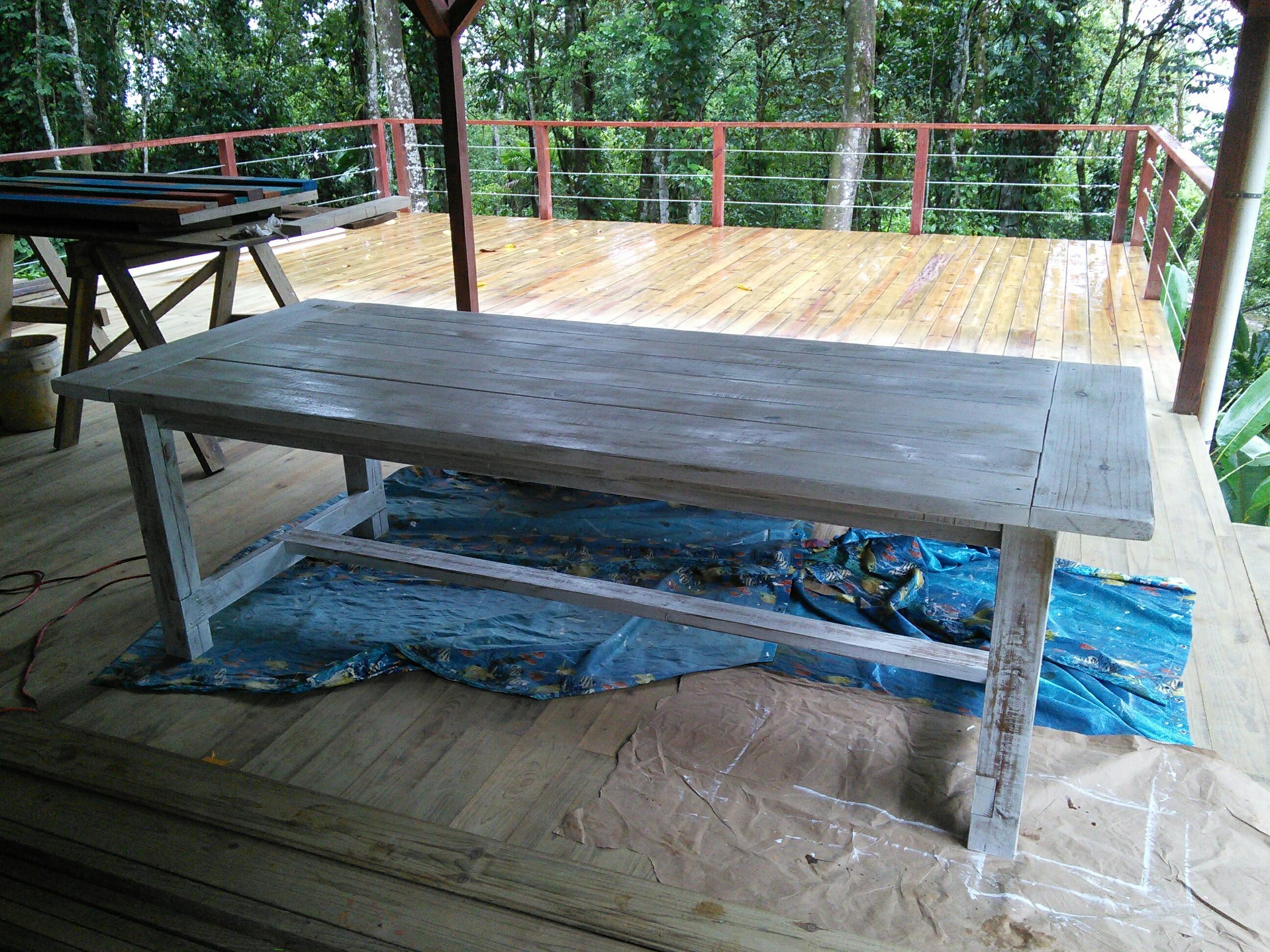 Custom handmade family size table