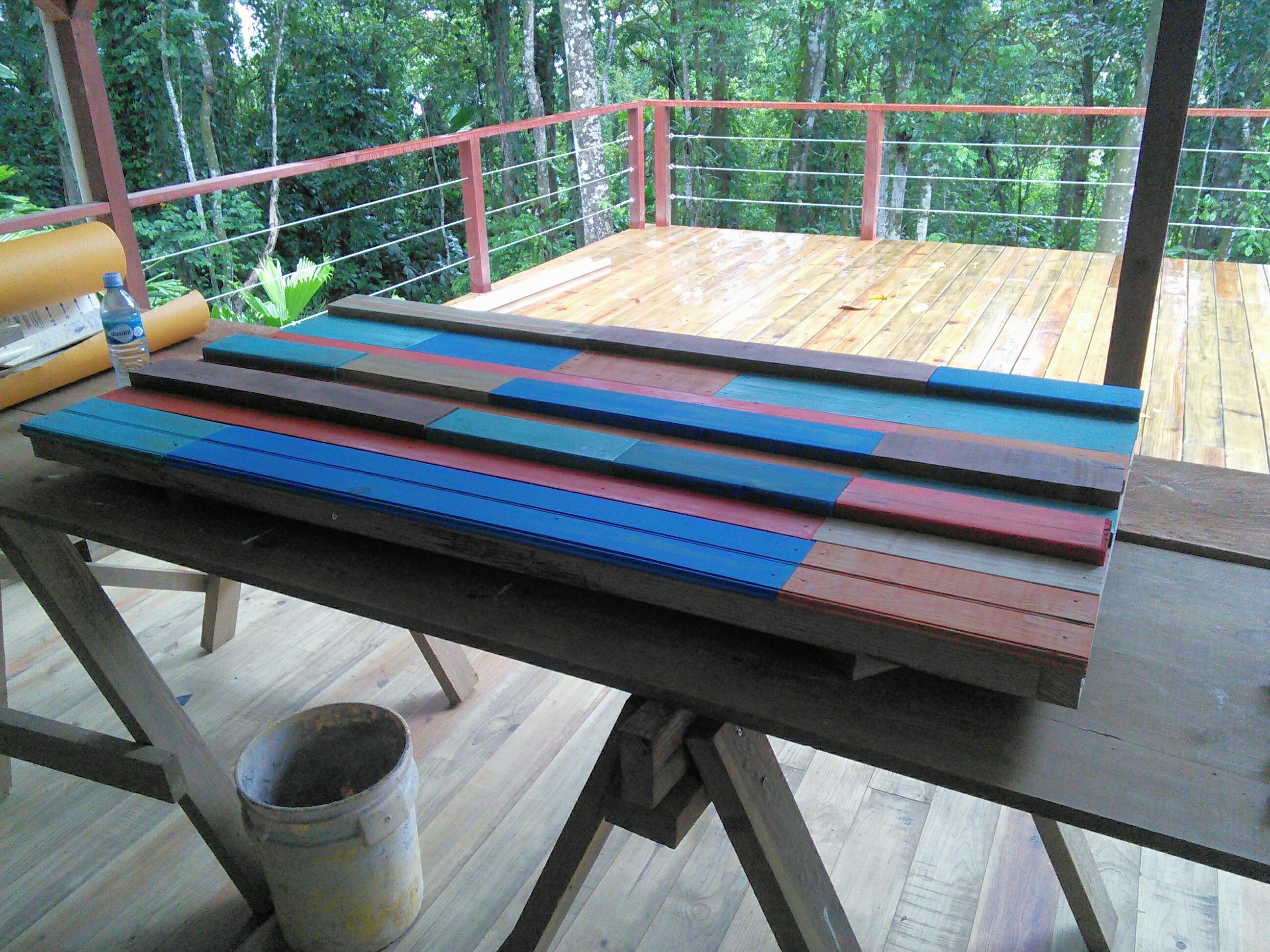 Tree Cabin bed headboard