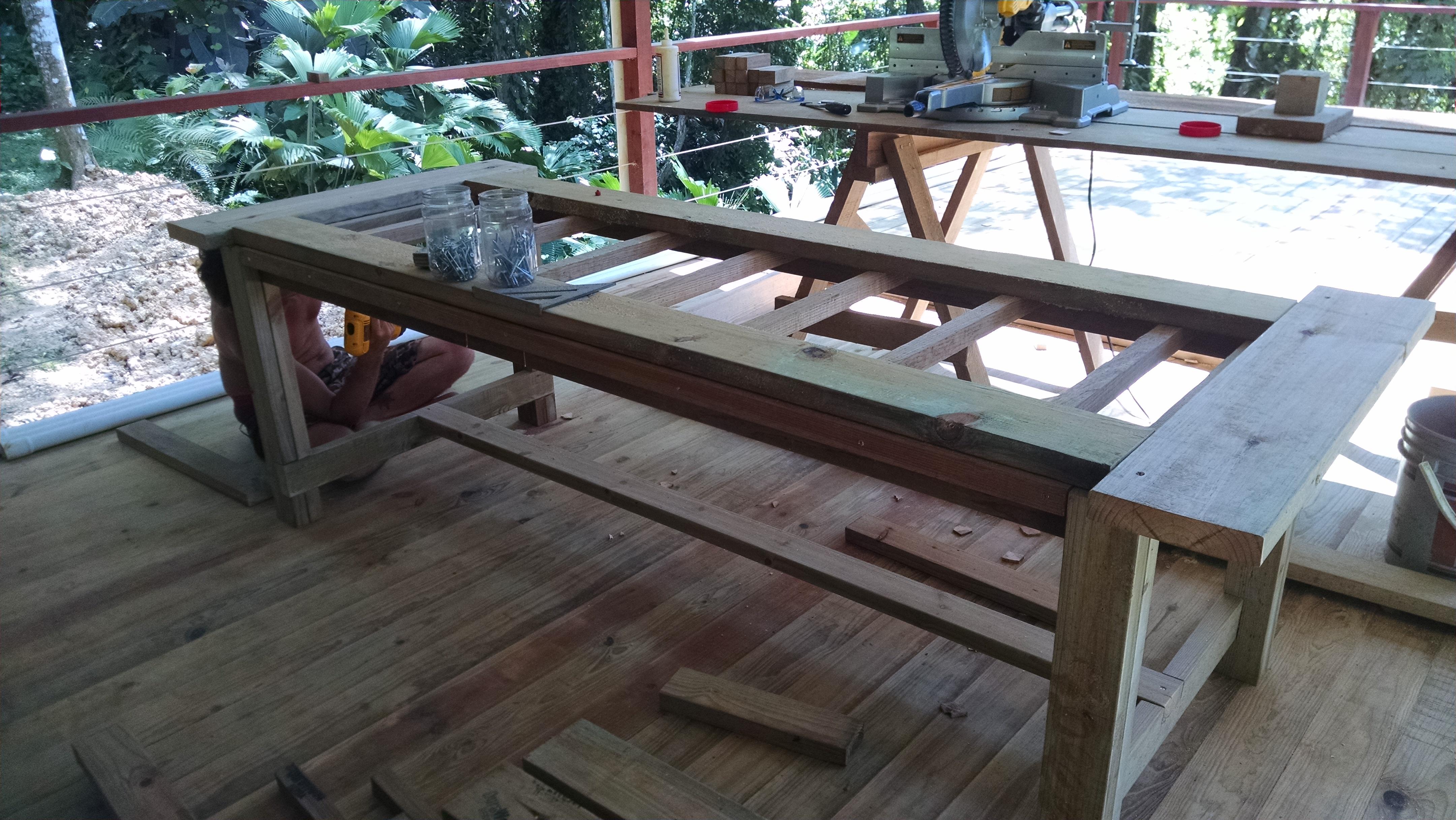 Photo of New restaurant table in progress