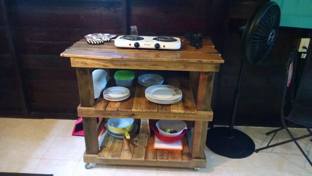 Garden Apartment - custom, handmade kitchen island