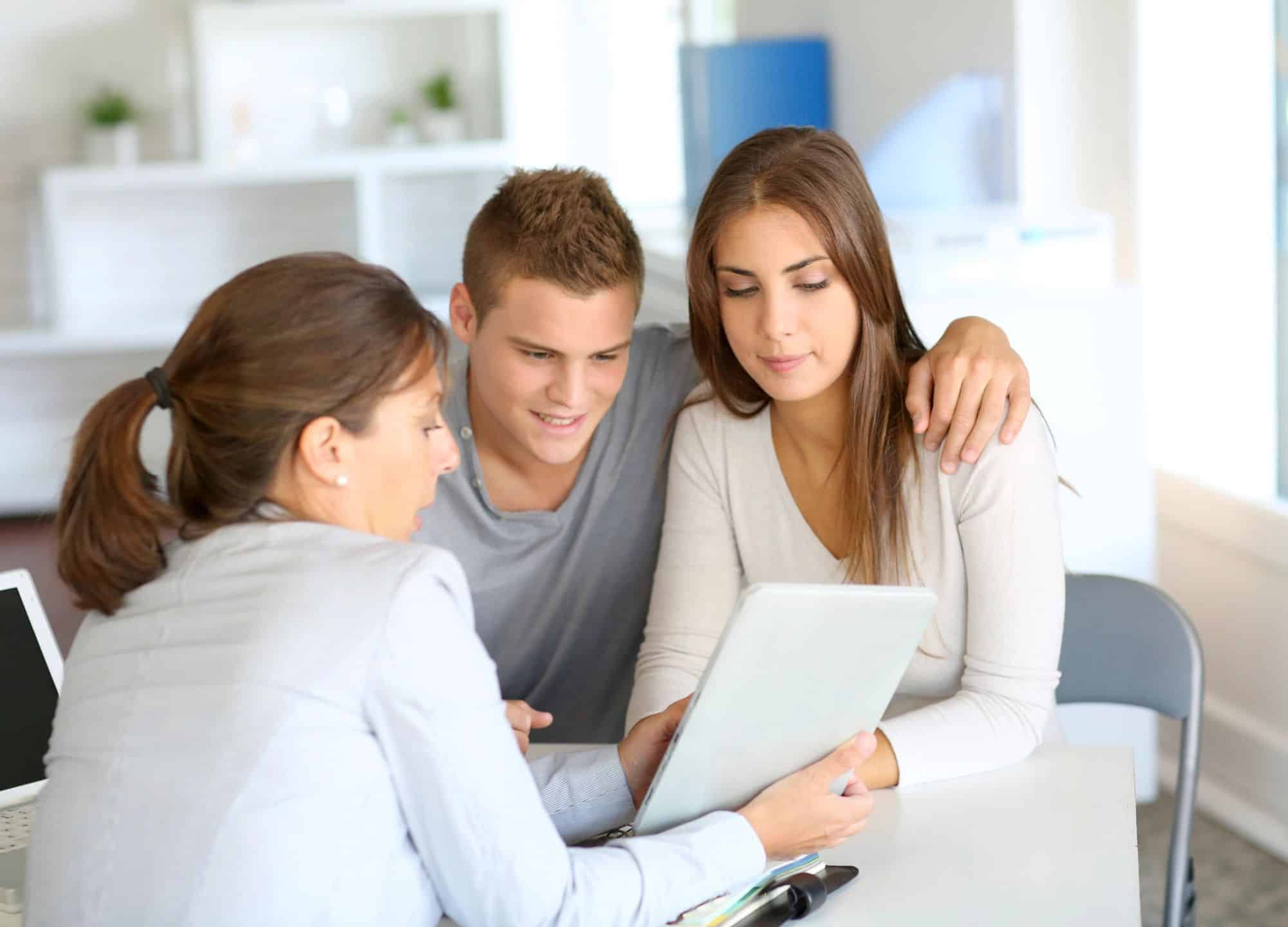Home Buyers Working with Realtor