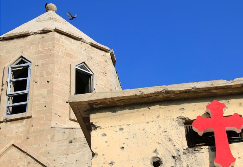 In Iraq, pope to visit Mosul churches desecrated by Islamic State