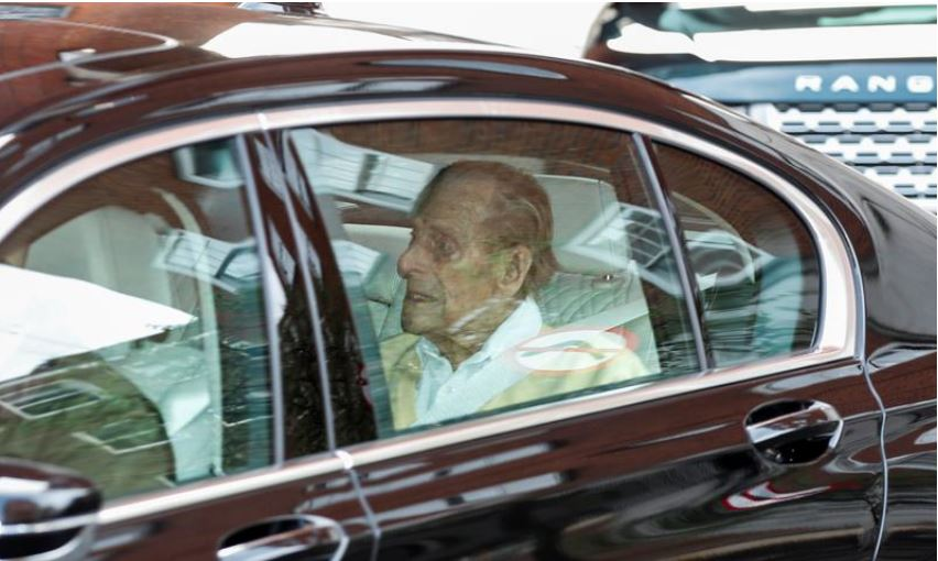 UK's Prince Philip, 99, leaves hospital after four-week stay