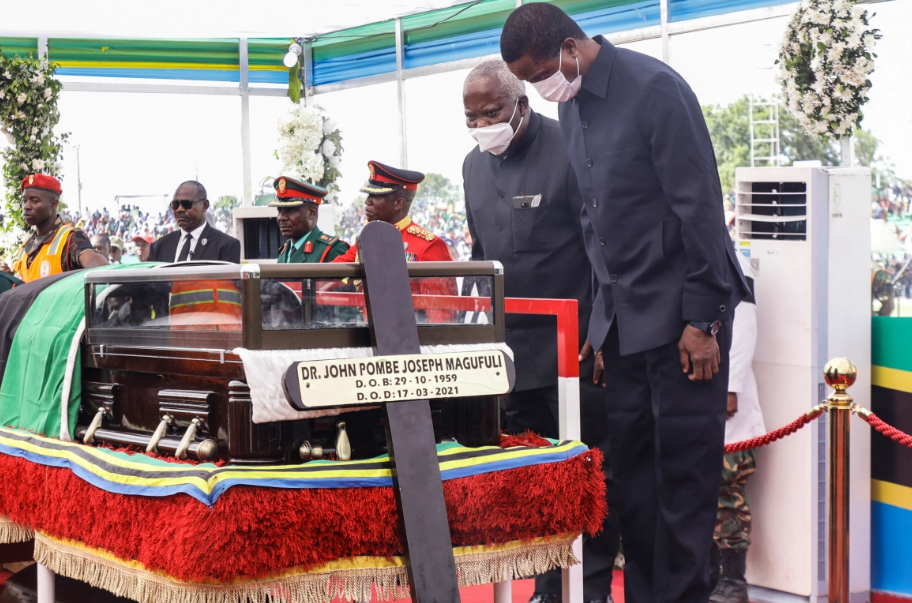 African leaders pay tribute to Tanzania's Magufuli