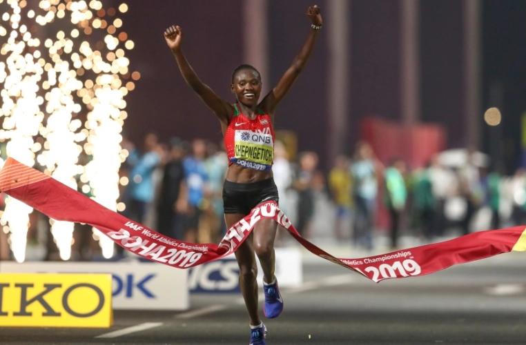 Kenya's Chepngetich breaks women's half-marathon world record