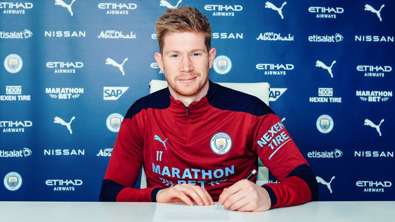 Kevin De Bruyne signs Manchester City contract extension until 2025