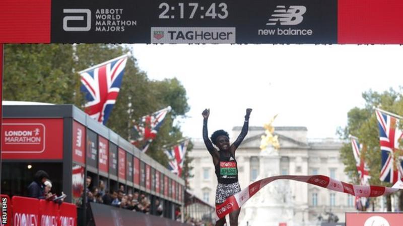 London Marathon 2021: Joyciline Jepkosgei wins women's race as Brigid Kosgei struggles