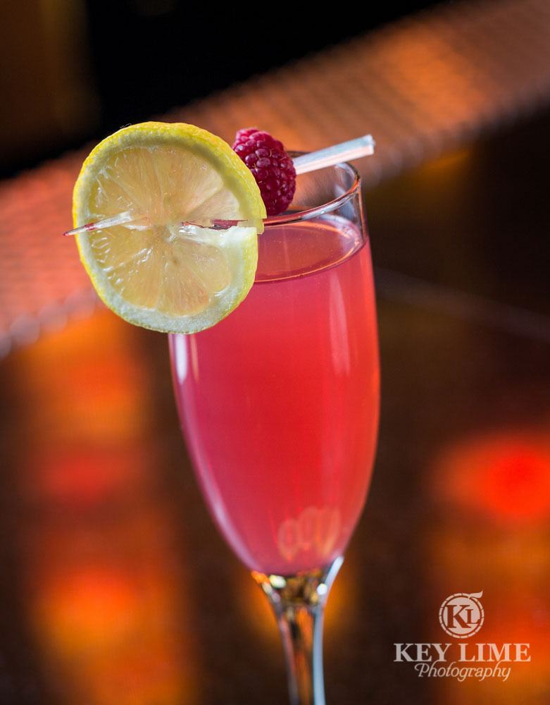 Raspberry cocktail from Luxe Bar at Hard Rock Hotel Las Vegas
