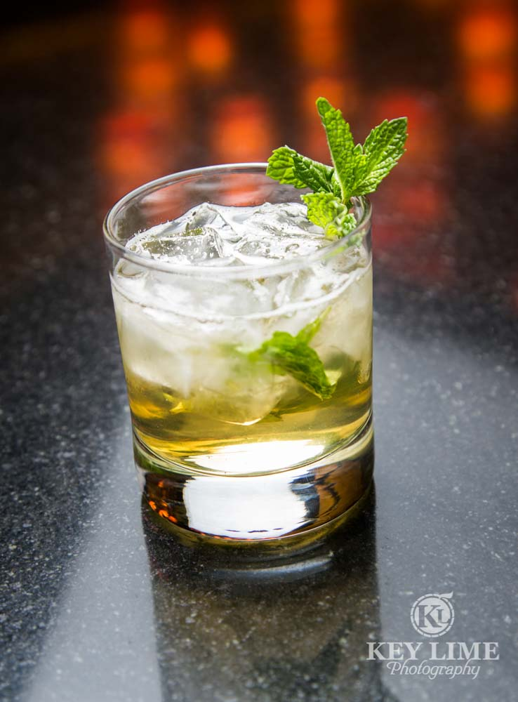 Las Vegas Food Photographer features Mint Drink from Luxe Bar at Hard Rock Hotel