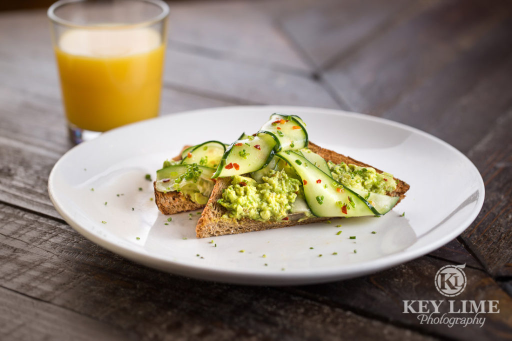 Food Photography Photo of AVOCADO TOAST at Mr Lucky's at the Hard Rock Hotel and Casino Las Vegas