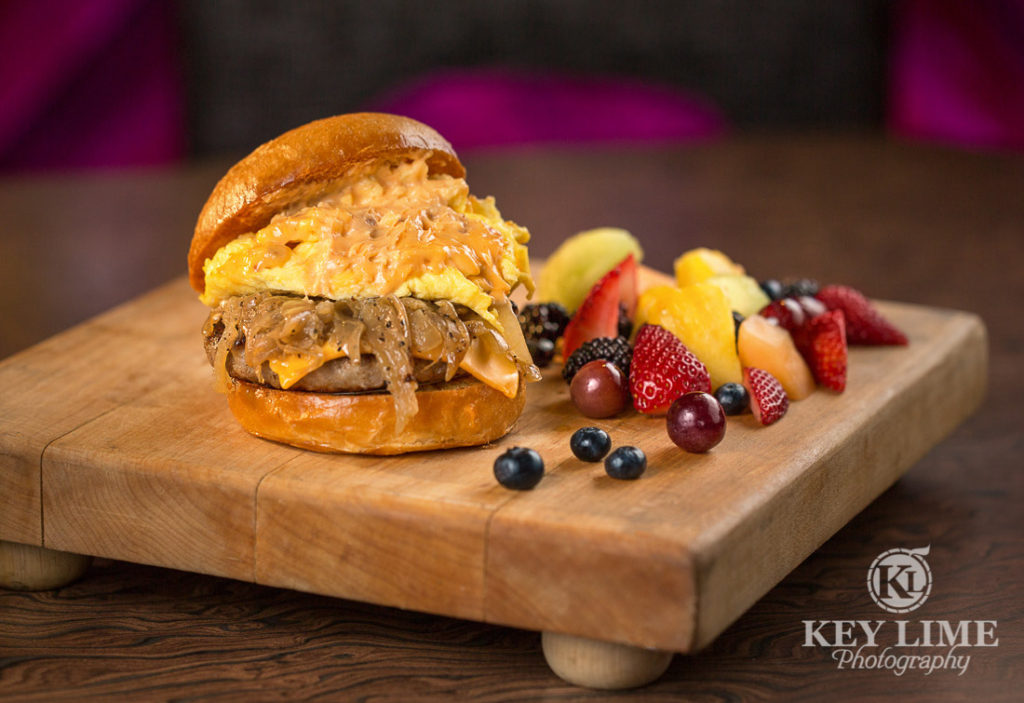 Food Photography Photo of THE PROPER BREAKFAST SANDWICH at Mr Lucky's at the Hard Rock Hotel and Casino Las Vegas