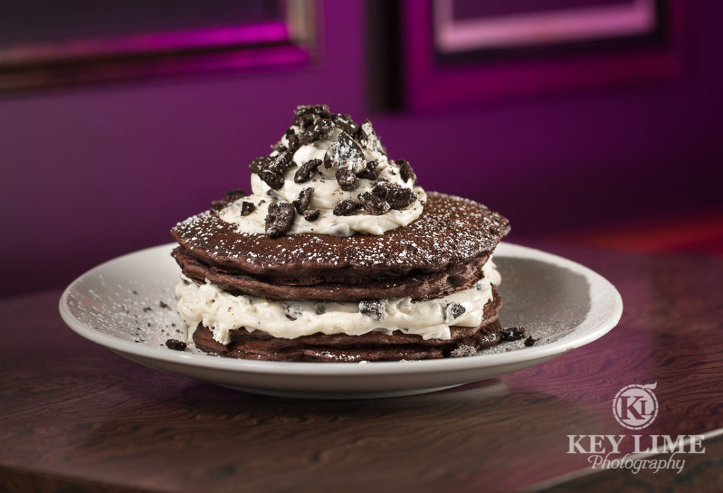 Food Photography Photo of COOKIES & CREAM PANCAKES at Mr Lucky's at the Hard Rock Hotel and Casino Las Vegas