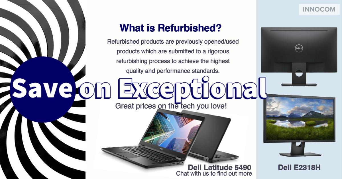Refurbished Laptops & Monitors